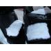 Квадрат на сиденье (A) Длинный ворс - Комплект: Белый