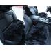 Квадрат на сиденье (A) Длинный ворс - Комплект: Черный