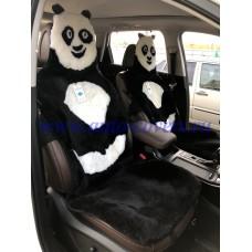 Меховая накидка на сиденье Панда из Овчины (Натуральный мех)
