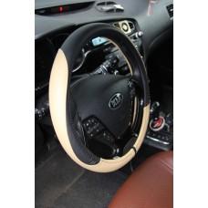 Оплетка на руль автомобиля из кожзаменителя NR 1604